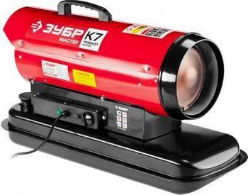 Купить Пушка дизельная тепловая ЗУБР ДП-К7-15000 220 В, 15 кВт, 300 м.куб/час, 18.5 л, 1.3 кг/ч, регулятор температуры