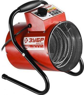 Купить Пушка тепловая электрическая ЗУБР КОМПАКТ ЗТП-М1-3000 круглая, гладкий нерж ТЭН, двойные стенки (термос), термостат, 3/1.5 кВт, 220 В