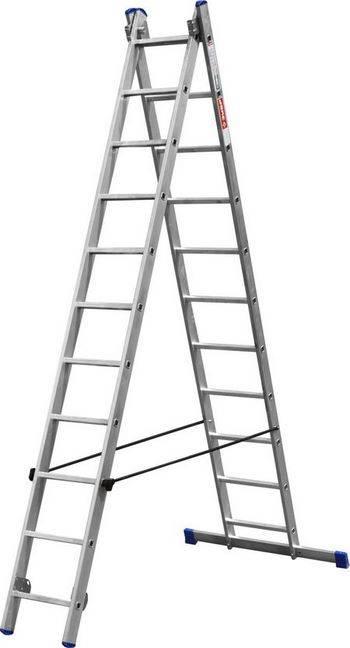 Купить Лестница двухсекционная ЗУБР 38821-11 11 ступеней, стабилизатор