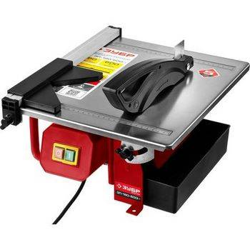 Купить Плиткорез электрический ЗУБР МАСТЕР ЭП-180-600Н диск 180 мм, глубина реза 90°-34мм/45°-17мм, стол 330х360мм, 2950об/мин, 600Вт