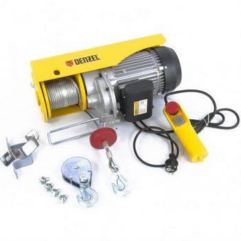 Купить Тельфер электрический TF-1200, 1.2 т, 1800 Вт, высота 12 м, 8 м/мин DENZEL
