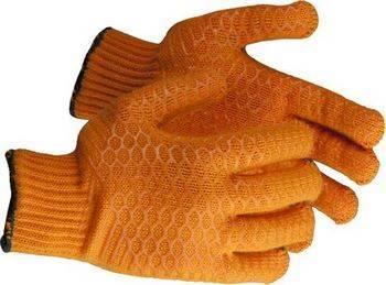 Купить Перчатки трикотажные с противоскользящим двусторонним перекрестным покрытием ЗУБР размер S-M