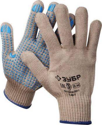Купить Перчатки акриловые утеплённые с защитой от скольжения ЗУБР ПРОФЕССИОНАЛ 11463-S 10 класс, размер S-M