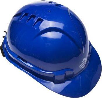 Купить Каска защитная синяя ЗУБР ЭКСПЕРТ храповый механизм регулировки размера