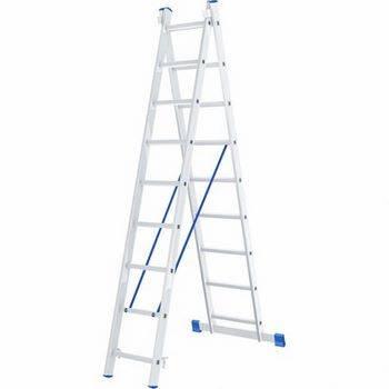 Купить Лестница двухсекционная алюминиевая СИБРТЕХ 2 х 9 ступеней