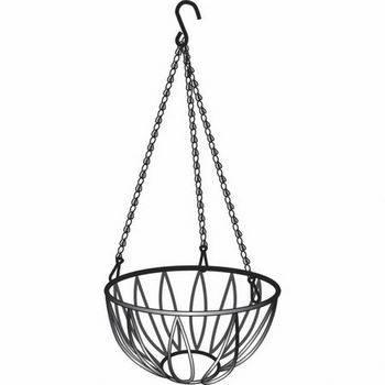 Купить Подвесное кашпо, диаметр 25, 4 см, высота с цепью и крюком 53, 5 см PALISAD