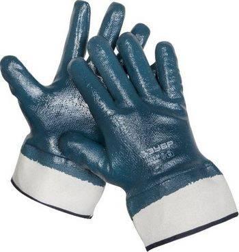 Купить Перчатки рабочие с полным нитриловым покрытием ЗУБР размер M (8)