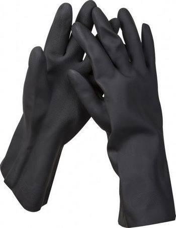 Купить Перчатки сантехнические двухслойные с противоскользящим покрытием ЗУБР размер XL