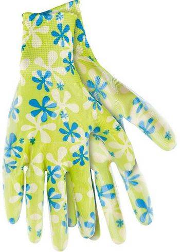 Купить Перчатки PALISAD садовые из полиэстера с нитрильным обливом зеленые M