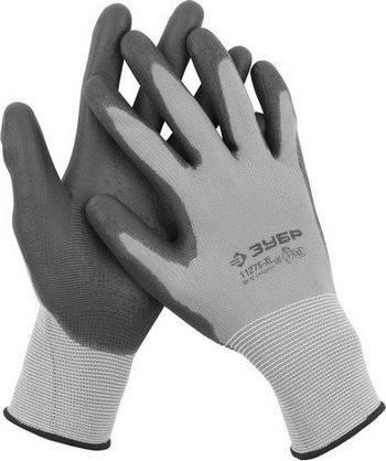 Купить Перчатки для точных работ с полиуретановым покрытием ЗУБР МАСТЕР размер L (9)