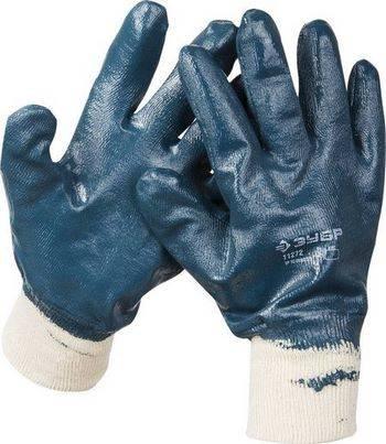 Купить Перчатки рабочие с манжетой и полным нитриловым покрытием ЗУБР размер XL (10)