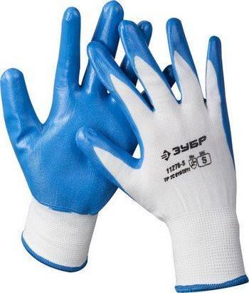 Купить Перчатки маслостойкие для точных работ с нитриловым покрытием ЗУБР МАСТЕР размер S (7)