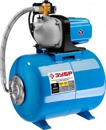 Купить Станция насосная автоматическая ЗУБР МАСТЕР НАС-М3-1200-50 М3 1200Вт, пропускная способность 63л/мин, напор 46м, бак 50л