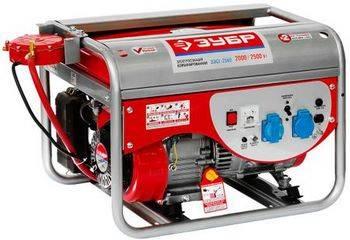 Купить Электростанция комбинированная бензин-газ (сжиженный) ЗУБР ЗЭСГ-2500 4-х тактная, ручной пуск, 220/12В, 2400Вт