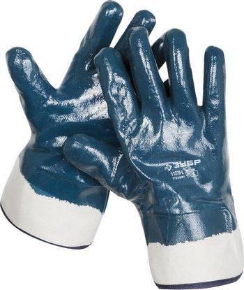Купить Перчатки рабочие с полным нитриловым покрытием ЗУБР размер L (9)