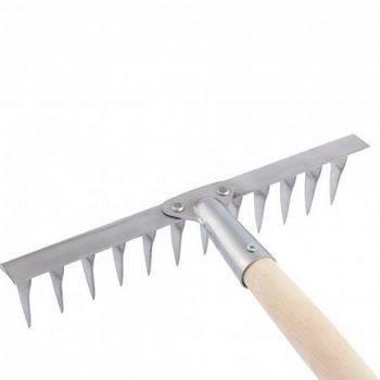 Купить Грабли 12-зубые витые, 290 мм, нерж. сталь, черенок в/с СИБРТЕХ