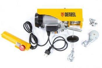 Купить Тельфер электрический TF-250, 0,25 т, 540 Вт, высота 12 м, 10 м/мин DENZEL