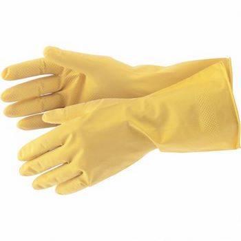 Купить Перчатки хозяйственные латексные, M, СИБРТЕХ, 67877