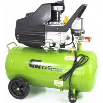 Купить Компрессор воздушный КК-1500/50, 1, 5 кВт, 198 л/мин, 50 л, прямой привод, масляный, СИБРТЕХ, 58039