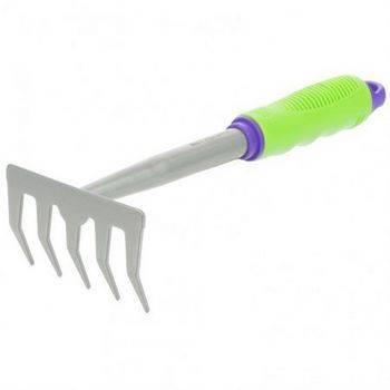 Купить Грабли 5-зубые, 115x280 мм, обрез. рукоятка, может использ. в сборе с ручкой 63016, 63017 PALISAD