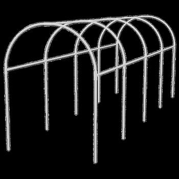 Купить Каркас парника пластиковый 300 х 110 х 120 см, дуга d20мм, белый PALISAD