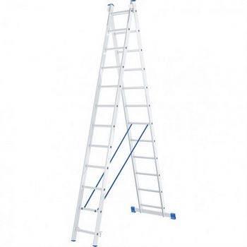 Купить Лестница двухсекционная алюминиевая СИБРТЕХ 2х12ступеней
