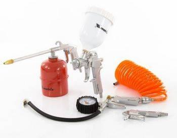 Купить Набор пневмоинструмента, 5 предметов, быстросъемное соединение Matrix 57304