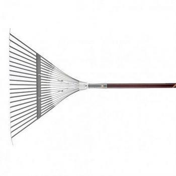 Купить Веерные грабли с деревянным черенком, стальные усиленные, покрытые эпоксидом PALISAD LUXE