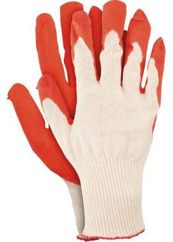 Купить Перчатки трикотажные с натуральным латексный обливом, 13 класс, размер 8
