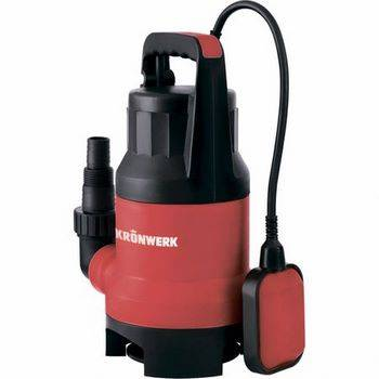 Купить Дренажный насос для грязной воды KP800, 800 Вт, подъем 8 м, 13000 л/ч, Kronwerk, 97232