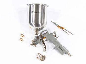 Купить Краскораспылитель пневматический с верхним бачком V=1, 0 л + сопла диаметром 1.2, 1.5 и 1.8 мм MATRIX