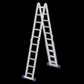 Купить Лестница шарнирная алюминиевая СИБРТЕХ 4х5