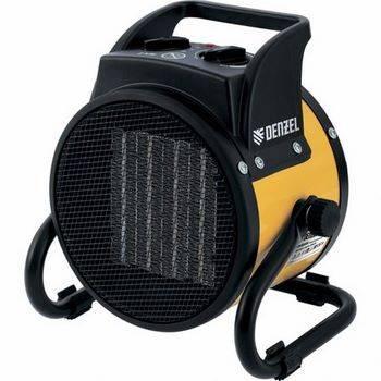 Купить Пушка тепловая электрическая DENZEL DHC 2-100 керамический нагреватель (тепловентилятор), 220В, 0.025/1/2 кВт, 96429