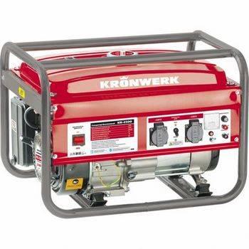 Купить Генератор бензиновый KB 2500, 2,4 кВт, 220В/50Гц, 15 л, ручной старт, KRONWERK, 94691