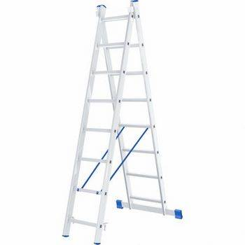 Купить Лестница двухсекционная алюминиевая СИБРТЕХ 2 х 8 ступеней