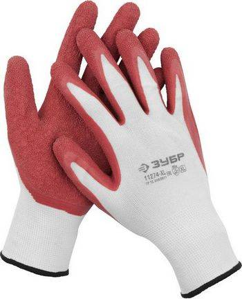 Купить Перчатки трикотажные с рельефным латексным покрытием ЗУБР МАСТЕР размер XL (10)