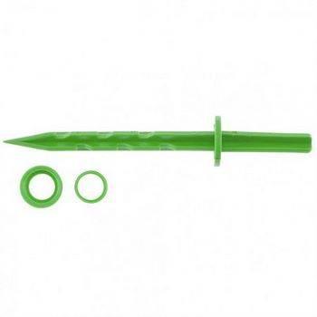 Купить Колышек 20см с установ. кольцом для креп. укрыв. мат. и пленки 10шт/уп, зеленый PALISAD