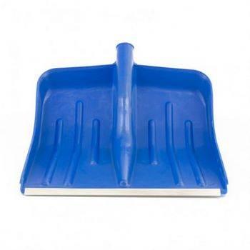 Купить Лопата снеговая СИБРТЕХ 61618 400 х 420 мм, синяя, без черенка, пласт., алюм. окантовка