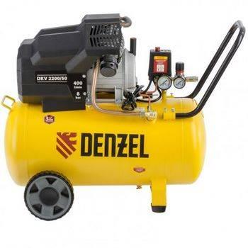 Купить Компрессор воздушный DKV2200/50, Х-PRO 2,2 кВт, 400 л/мин, 50 л Denzel