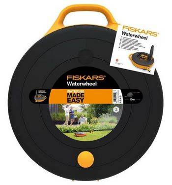 Купить Катушка со шлангом FISKARS 102043615м, диаметр 3/8 дюйма (9 мм) + набор аксессуаров