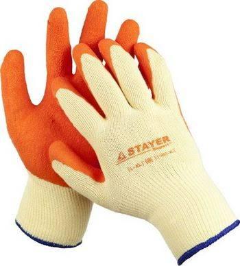 Купить Перчатки трикотажные с латексным покрытием, х/б STAYER 11407-XL