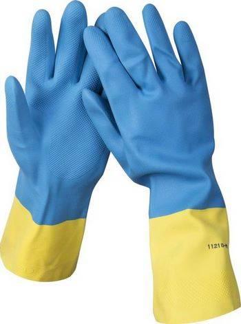 Купить Перчатки латексные с неопреновым покрытием STAYER PROFESSIONAL 11210-L