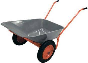 Купить Тачка садово-строительная, 2-х колесная, усиленная, грузоподъемность 320 кг, объем 100 л PALISAD