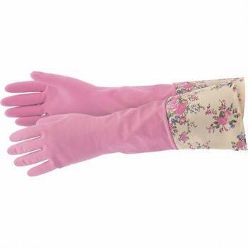 Купить Перчатки хозяйственные латексные с манжетой, S, Elfe, 67889
