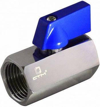 Купить Кран шаровой мини СТМ CWMFF012 1/2 дюйма для воды, тип «флажок», гайка/гайка, хром