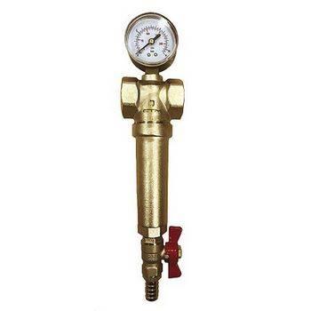 Купить Фильтр для горячей воды СТМ ТЕРМО CRFSMH34 3/4 дюйма самоочищающийся, с манометром
