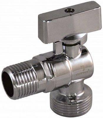 Купить Кран шаровой угловой СТМ CAMR1234 1/2x3/4 дюйма для бытовых приборов, тип «бабочка», штуцер/штуцер, удлиненная резьба, отражатель, хром