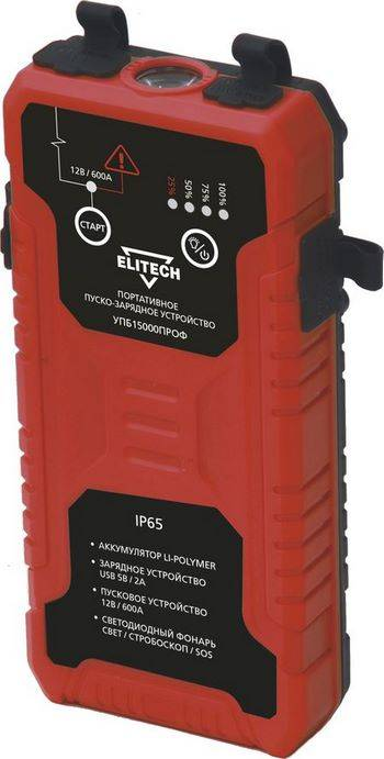 Купить Пуско-зарядное устройство ELITECH УПБ 15000ПРОФ