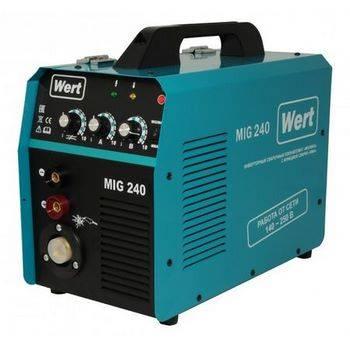 Купить Инвертор сварочный WERT MIG 240