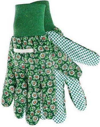 Купить Перчатки садовые х/б ткань с ПВХ точкой, манжет, S PALISAD, 677618